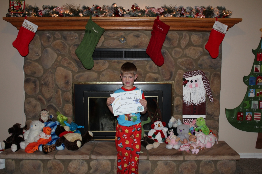 Braylon was excited to receive his certificate!