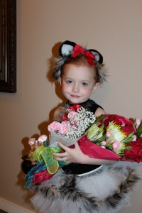 Cassidy loved her flowers but would have much rather had the candy like Braylon